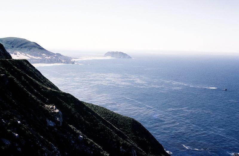 Looking along the coast - Big Sur
