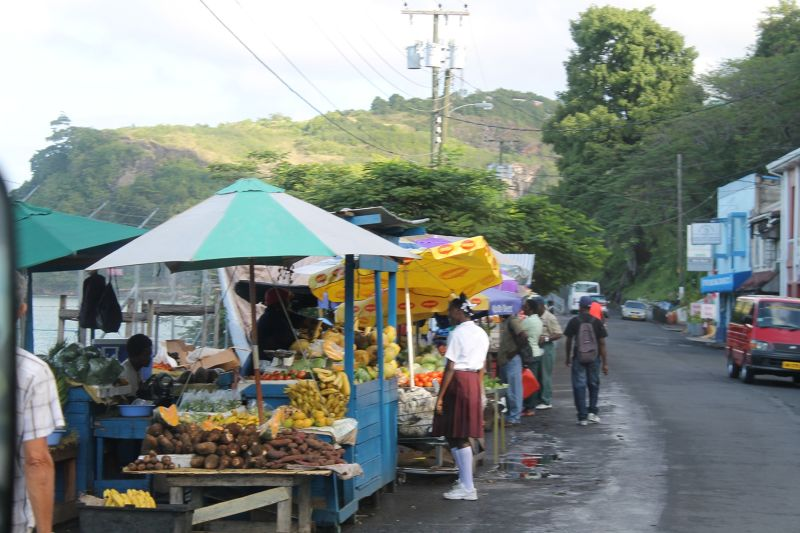 Stalls along the road - Saint George's