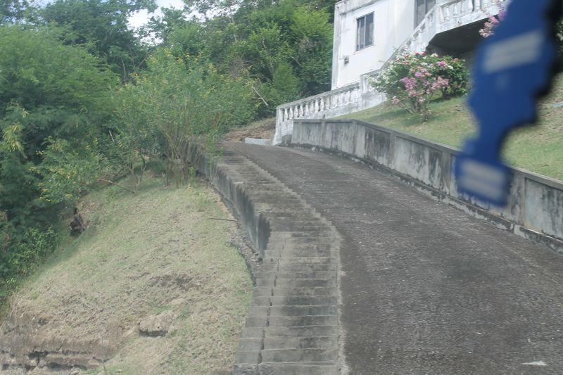 A steep driveway - Grenada