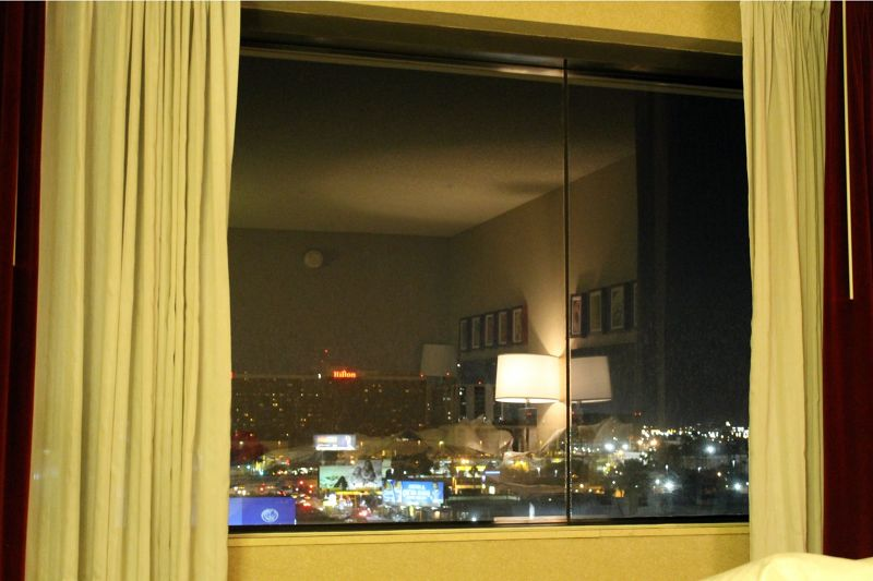 Our room reflected in the window - Los Angeles