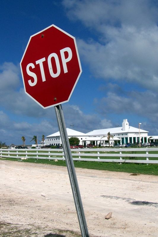 Stop sign is a little crooked, but who cares - Grand Turk