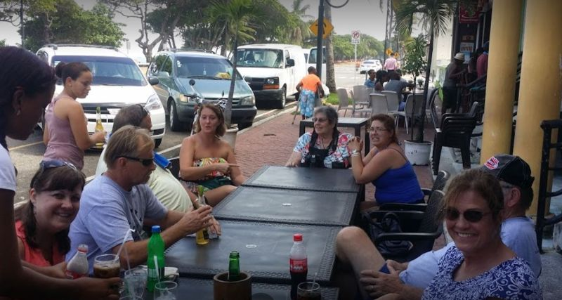Picture taken by our guide - I'm at the head of the table - Puerto Plata