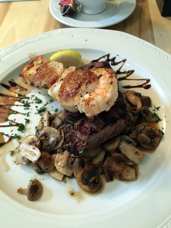 The Sandie - steak with a shrimp & scallop skewer - Hollywood