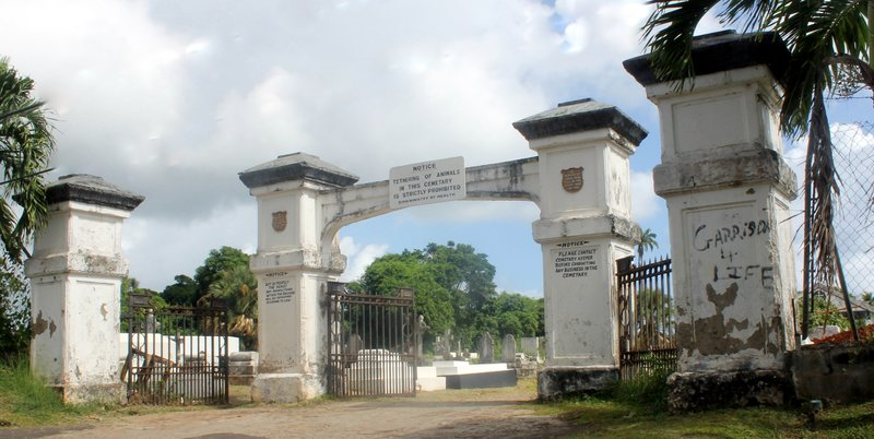 Grand Bras cemetery gate