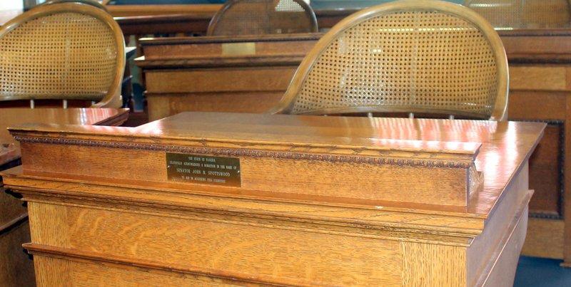Senator John Spotswood's desk
