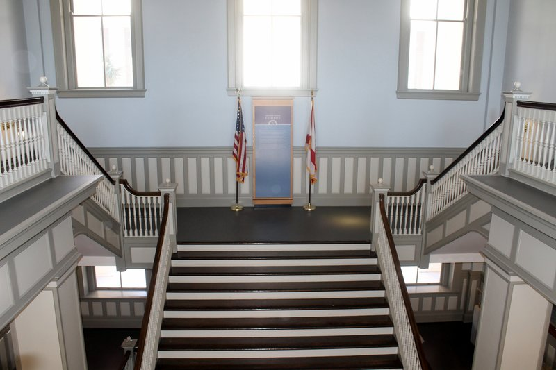Stairs to the second floor