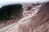 Pyroclastic flow coming down the mountain - Montserrat