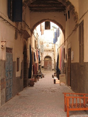 View down an alleyway