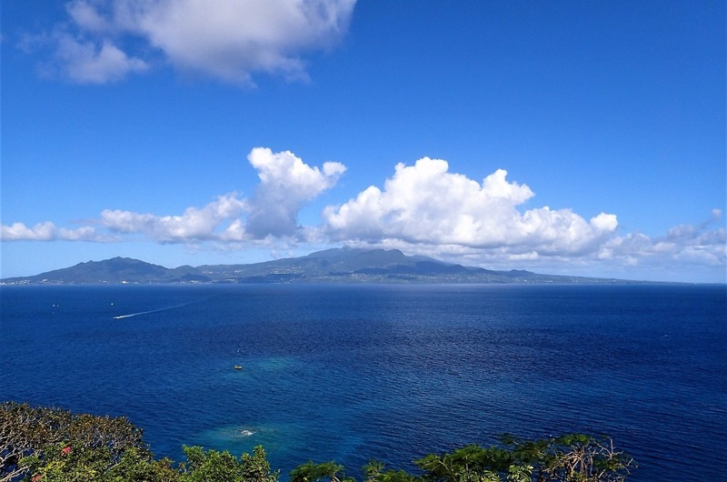 Seeing Guadeloupe from far away