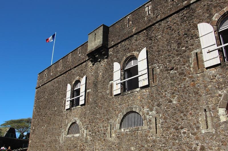 The main barracks inside the walls