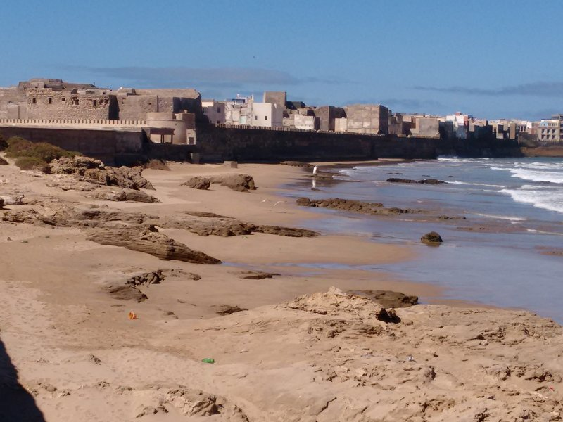 Essaouira, view of Mellah from the graveyard