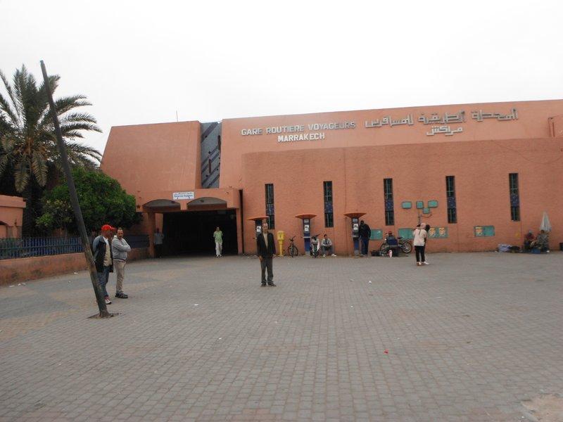 Marrakesh bus station at Bab Doukkala