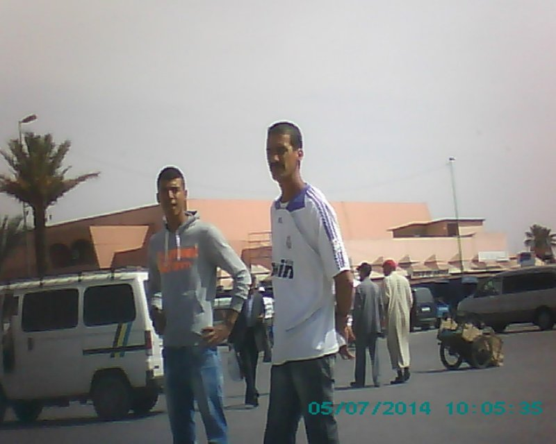 Marrakesh bus station touts