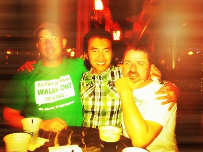 st. paddy's day at the irish bank in SF.