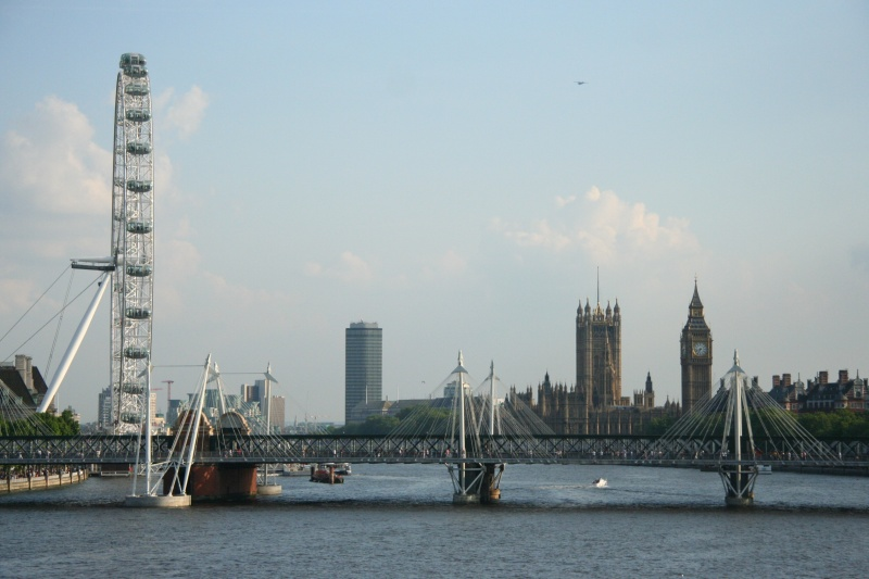 London Eye, Golden Jubilee Bridge, Big Ben
