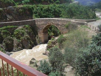 Outside the Inca village I visited