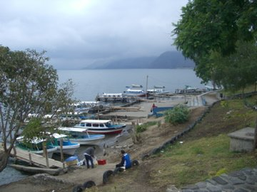The shore of lake Atitlan in Panajachel