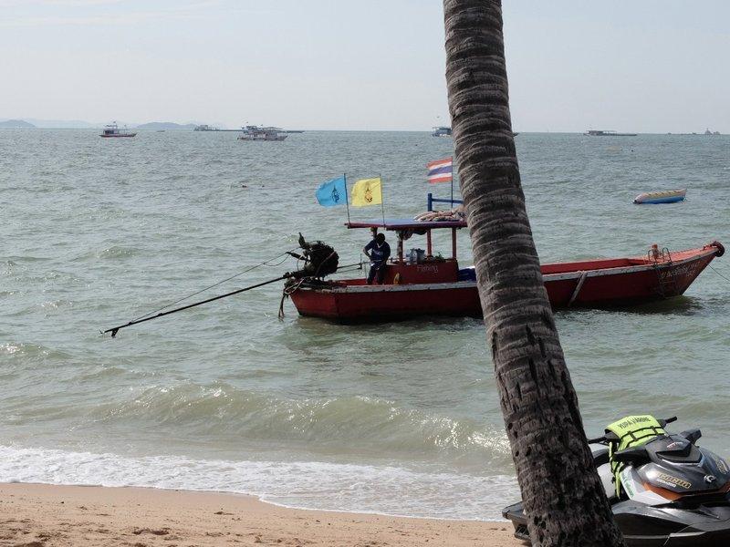 on the beach in Pattaya