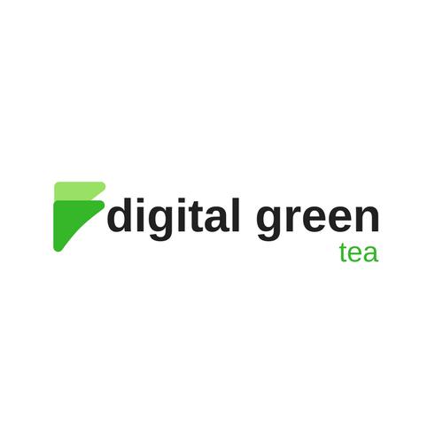 digital green tea logo square