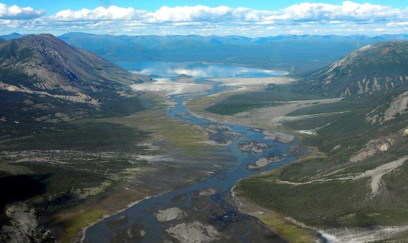 Slim river and Kluane Lake