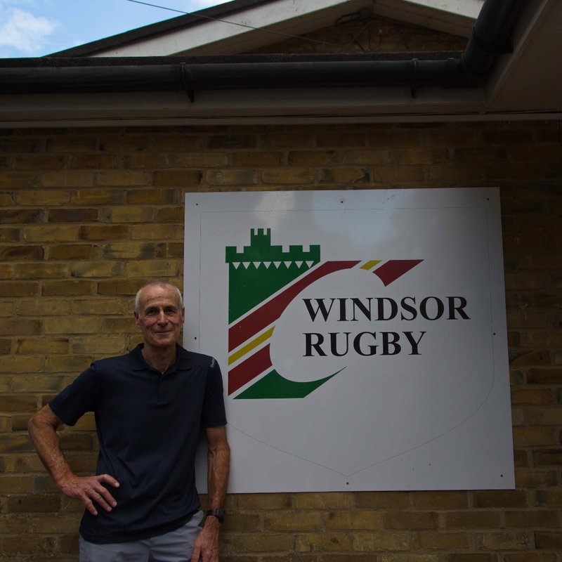 Ivor at Windsor Rugby Club for All Black vs British Lions