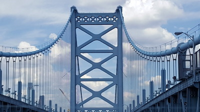 Ben Franklin Bridge Into Philly