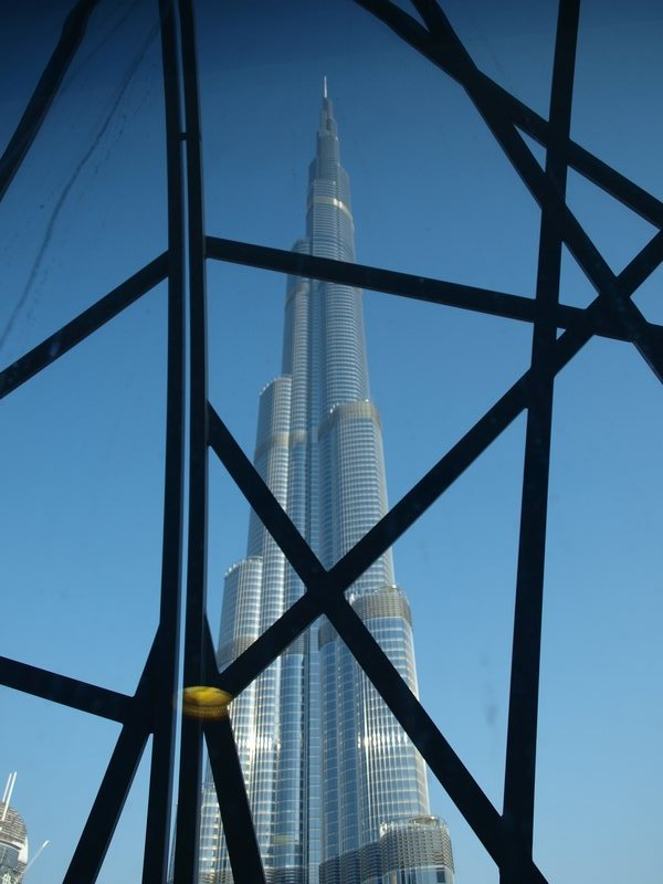 The Burj from the mall