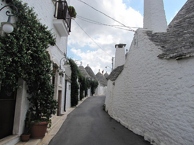 The quaint Trulli houses of Alberobello