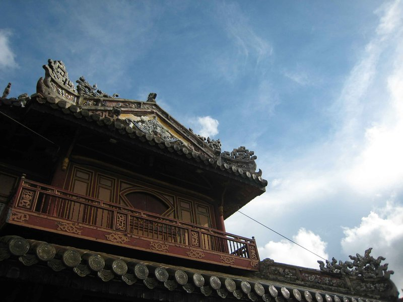 hue citadel with sun in sky