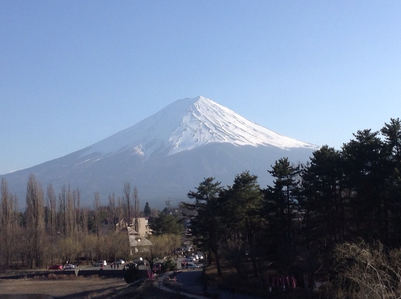 Mount Fuji from the town