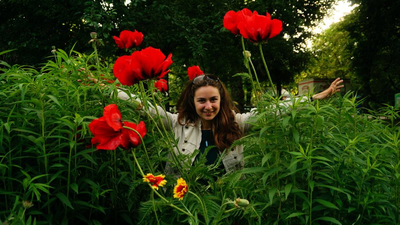 A flower between flowers!