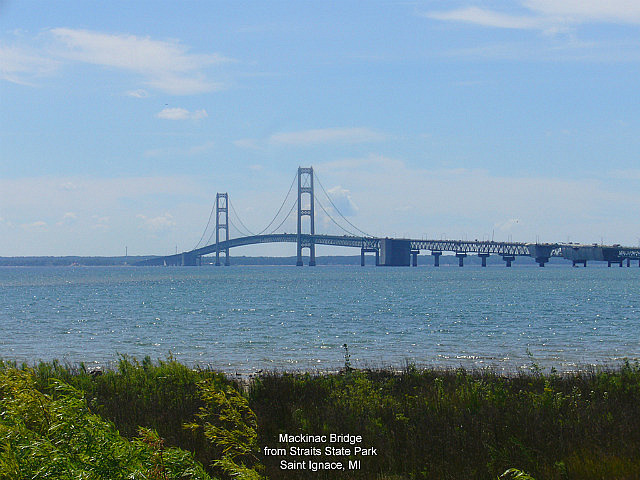 Mackinac Bridge from Straits State Park