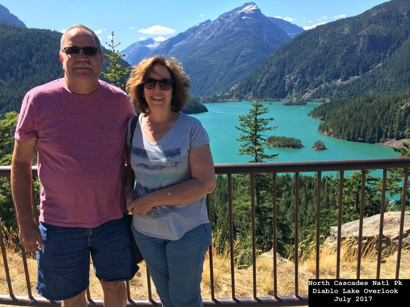 Diablo Lake Overlook - North Cascades National Park- Washington
