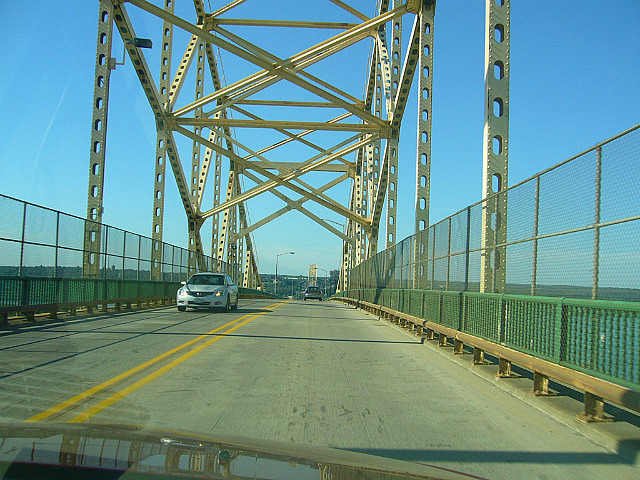Crossing the Sault Ste Marie bridge