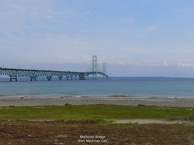 Mackinac Bridge from Mackinac City
