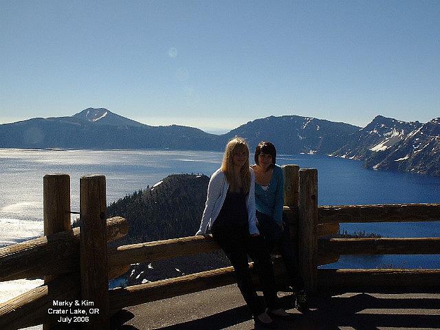 Marky and Kim at Crater Lake National Park Oregon