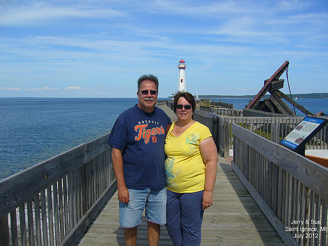 Jerry & Sue at Wawatam Lighthouse
