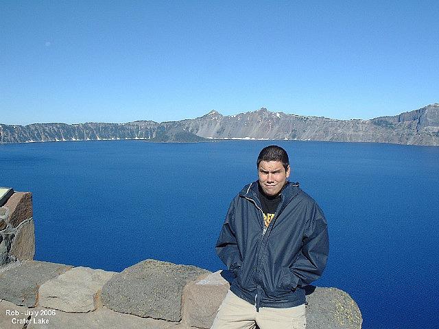 Rob at Crater Lake National Park - Oregon