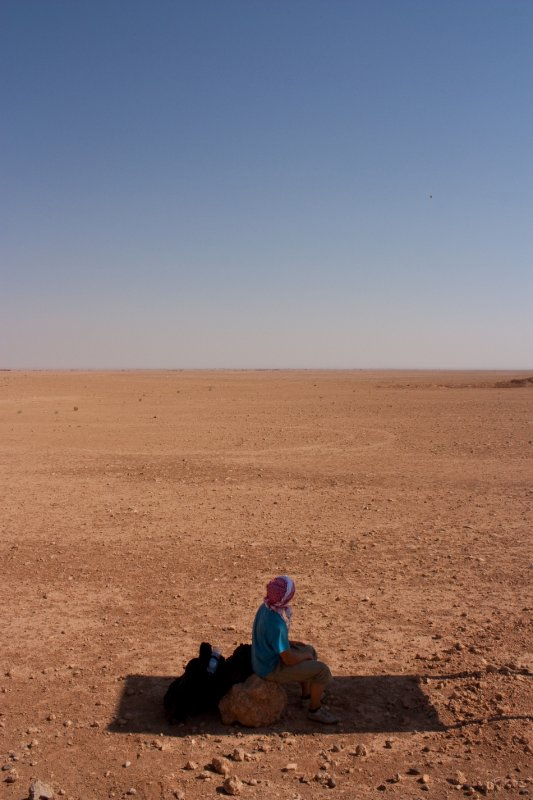 Hitching through the Desert