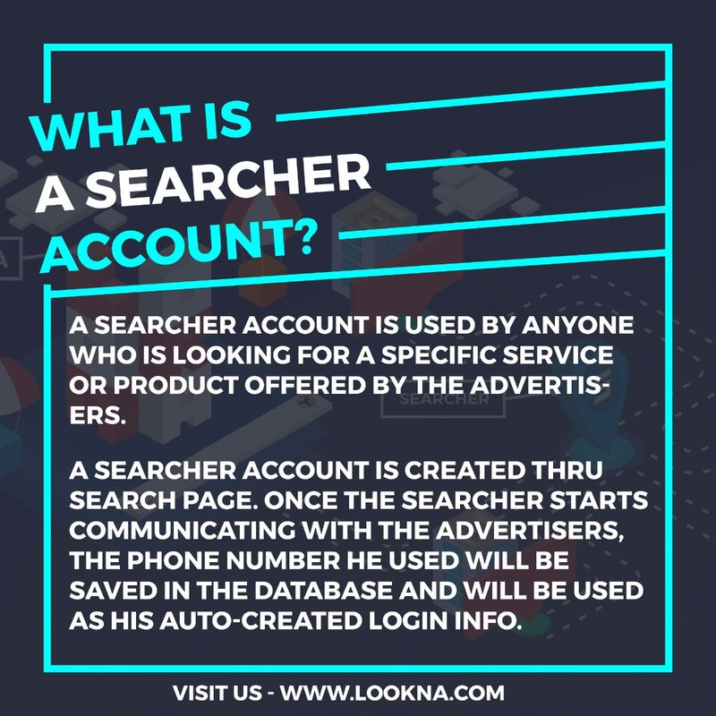 What is a Searcher account?