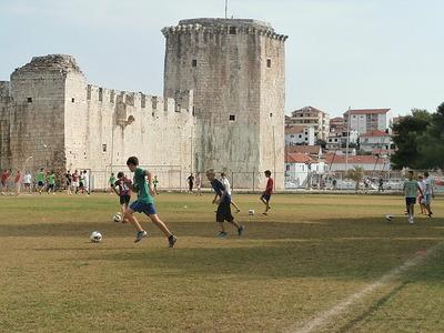 Soccer practice Trogir