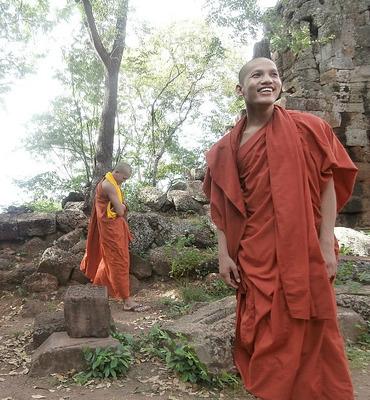 Monks at Battambang temple