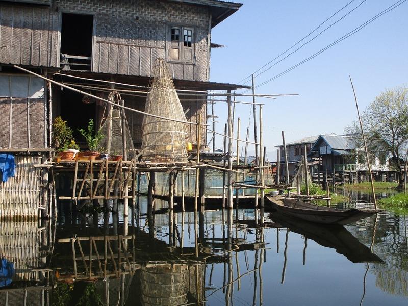Floating village house