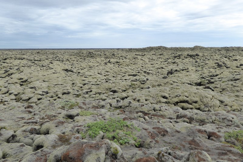 Rocks from larva flow as far as the eye can see.