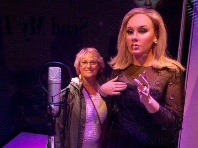Adele and I cutting a new record