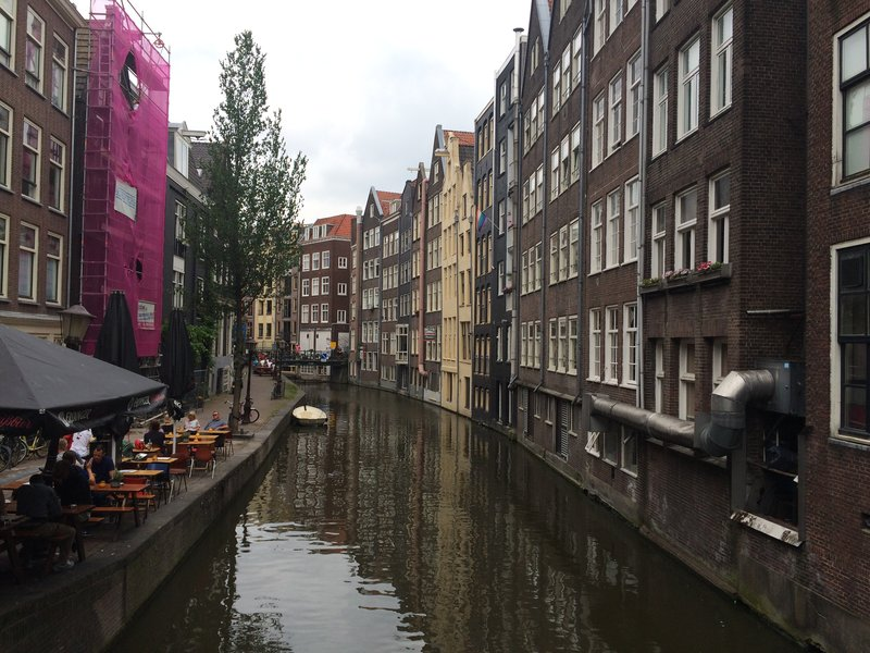 Houses on a canal