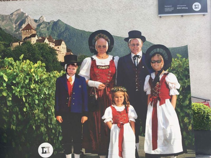 Family photo in Liechtenstein