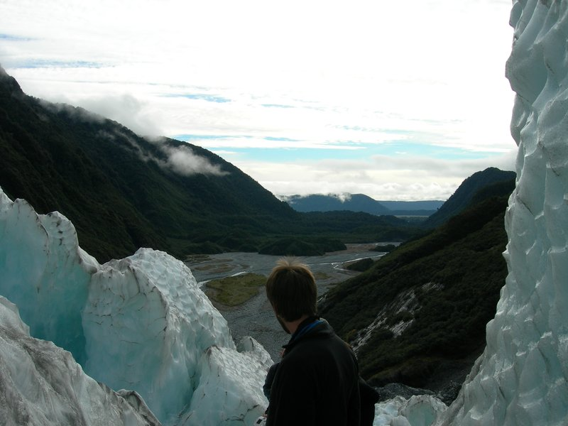 In the midst of the Franz Josef glacier