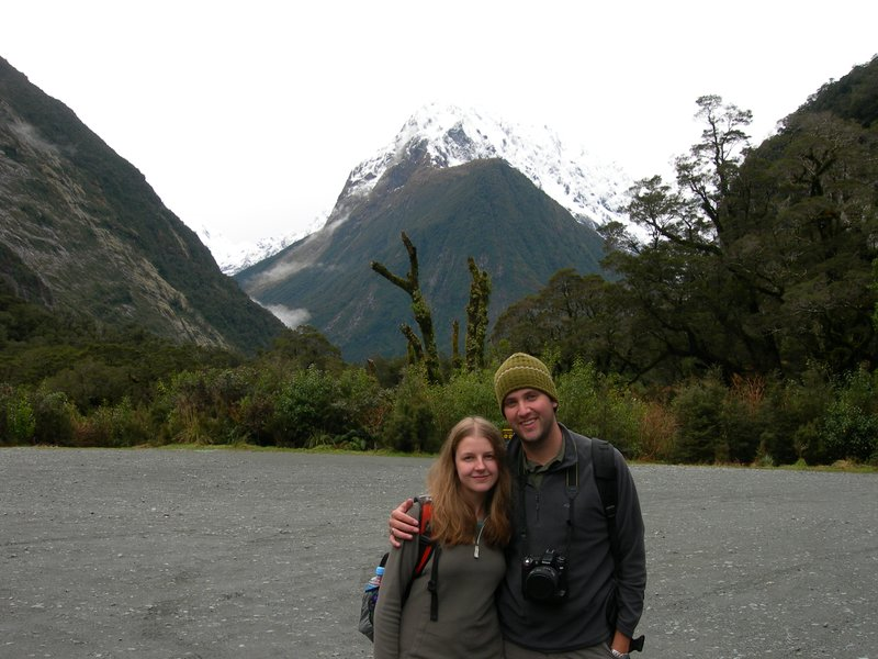 Me and Matt on the way to Milford Sound