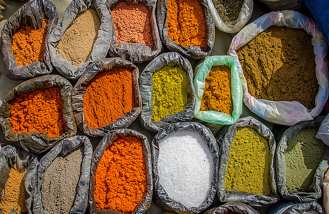 Bags of fragrent spices